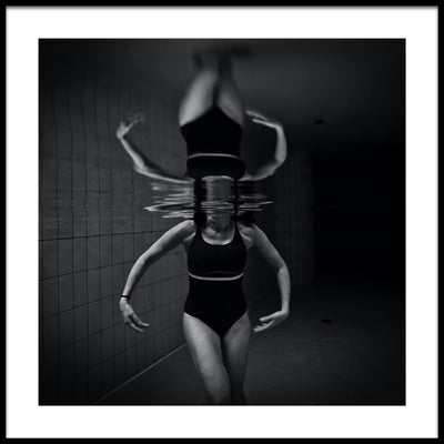 Vossington wall art and fine art photography of an underwater ballet pose in a swimming pool