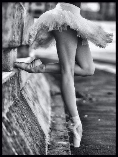 Vossington wall art and fine art photography of a ballerina standing on the street