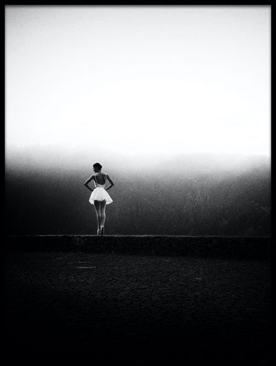Vossington wall art and fine art photography of a landscape scenery with a ballet dancer