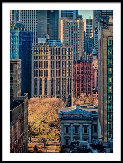 Vossington wall art and fine art photography of colorful buildings in Manhattan, New York City