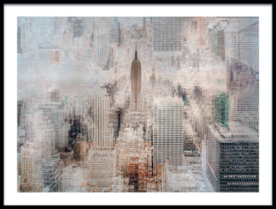 Vossington wall art and fine art photography of an abstract view of the Empire State Building and Manhattan in New York City