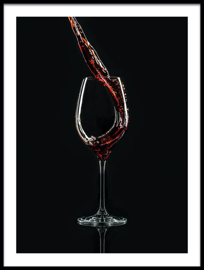 Vossington wall art and fine art photography of red wine being poured into a wine glass