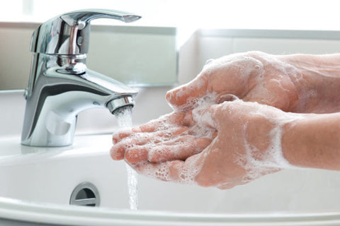 hand cleaning and sanitizing