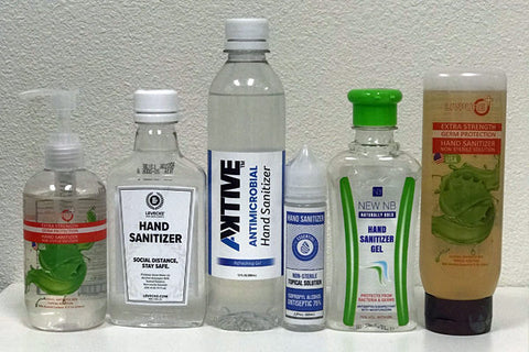 different types of hand sanitizers