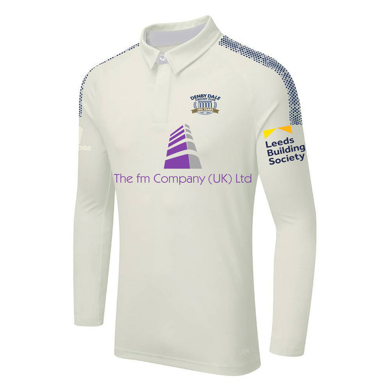 Denby Dale CC L/S Playing Shirt with embroidered badge and sponsor prints