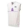 Denby Dale CC Sleeveless Playing Sweater with sponsor print and emb badge