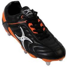 BOOT S/ST BARBAR BK/ORA 8S RUGBY BOOT