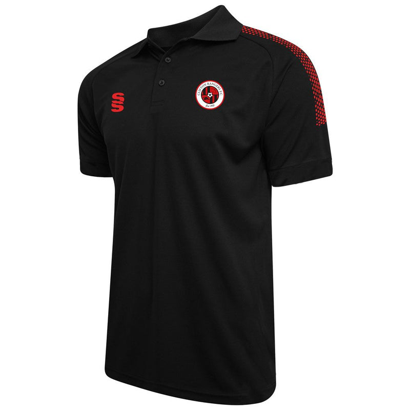 Clifton Rangers Black / Red Polo Shirt