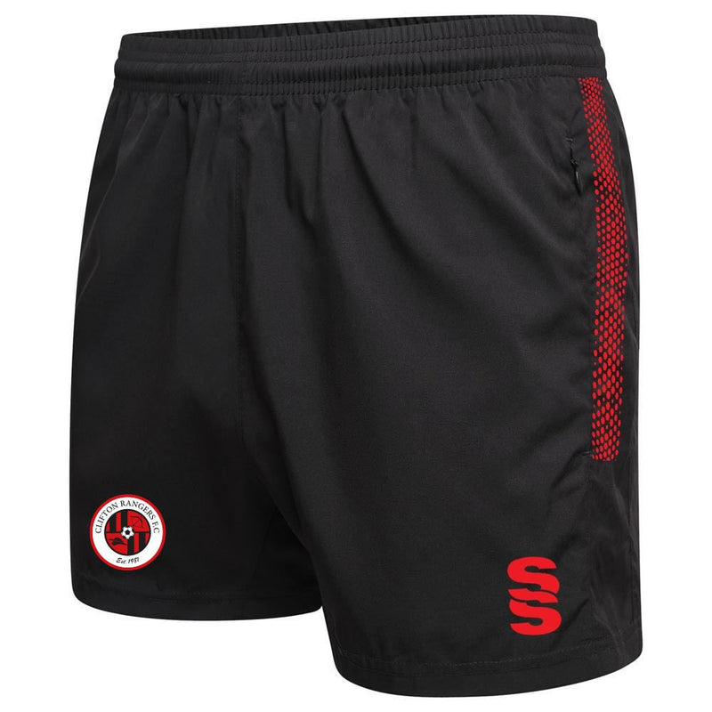Clifton Rangers Black / Red Training Shorts