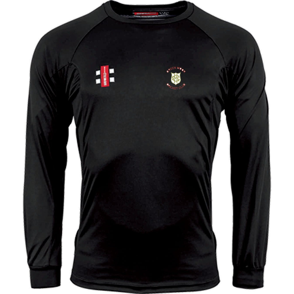 Green Moor CC Long Sleeve Matrix Shirt with embroidered badge and initials