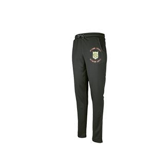Green Moor CC Pro Performance Trousers with embroidered badge and iniitials