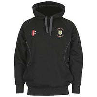 Green Moor CC Storm Hoodie with embroidered badge and initials