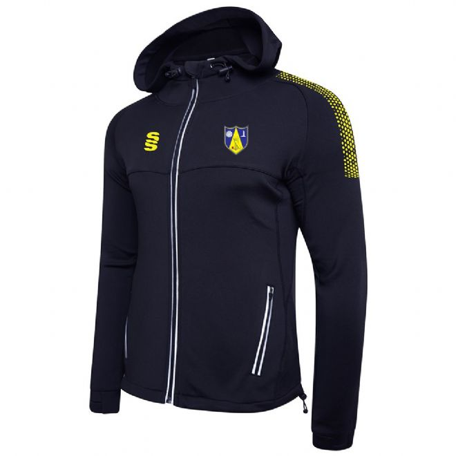Hall Bower CC Dual Performance Hoodie with embroidered badge & Initials