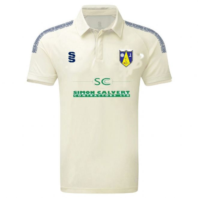 Hall Bower CC S/S Playing Shirt with embroidered badge & Sponsor