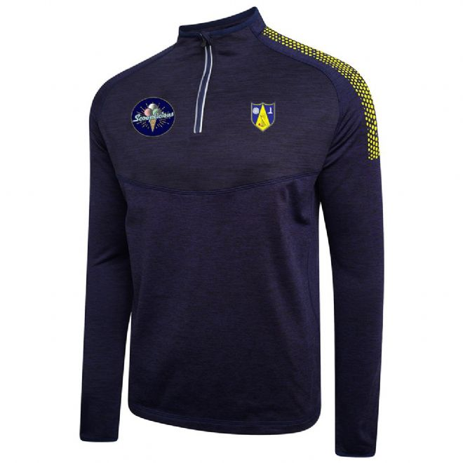Hall Bower Performance Midlayer with embroidered badge and initials