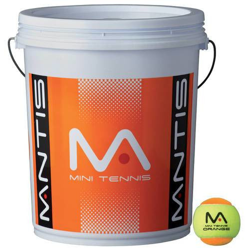 MANTIS Stage 2 Orange Tennis Balls (Bucket 6 Dozen)