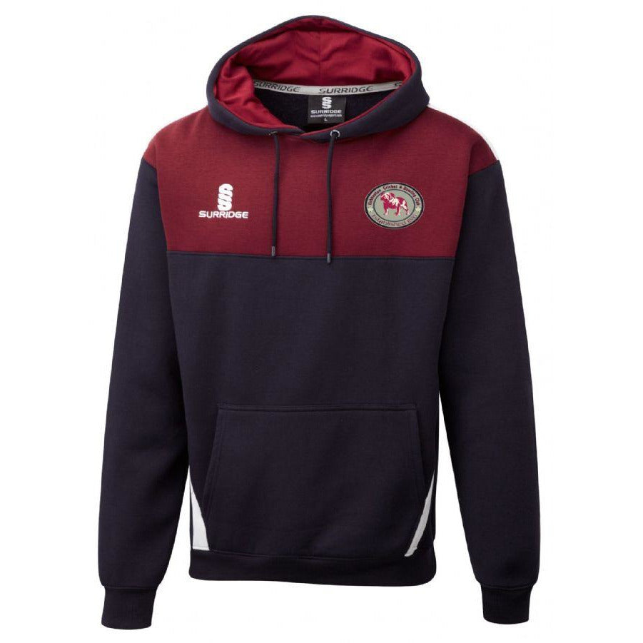 Kirkheaton CC Blade Hoodie with embroidered badge & Initials