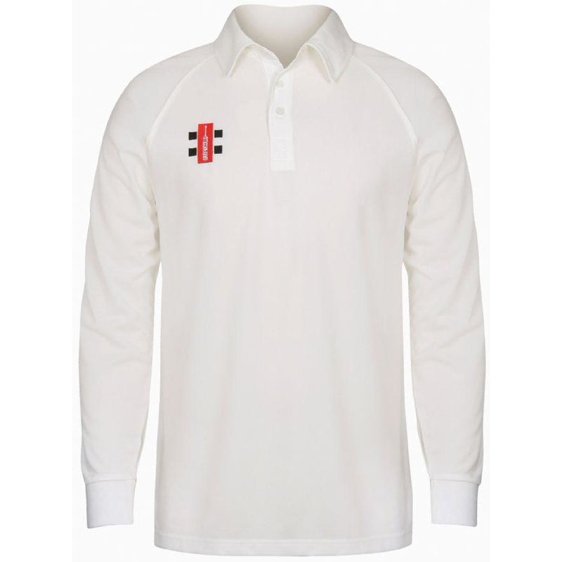 Leymoor CC Long Sleeve playing Shirt with embroidered badge and Sponsor