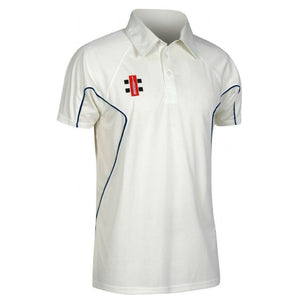 Leymoor CC Short Sleeve playing Shirt with embroidered badge & Sponsor Print