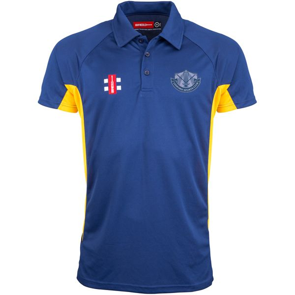 Lydford CC Navy/Gold Matrix Performance Polo Shirt