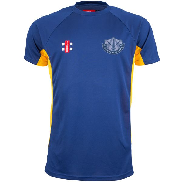 Lydford CC Navy/Gold Matrix Training Shirt