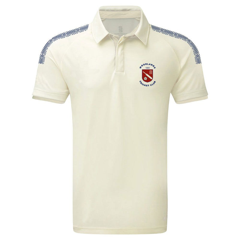 Moorlands CC Dual S/S Playing Shirt with embroidered badge and sponsor prints
