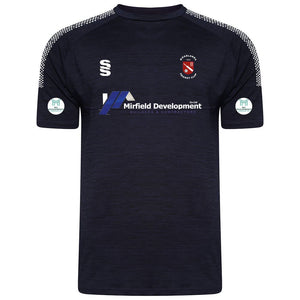 Moorlands CC Gym Shirt with embroidered badge and sponsor
