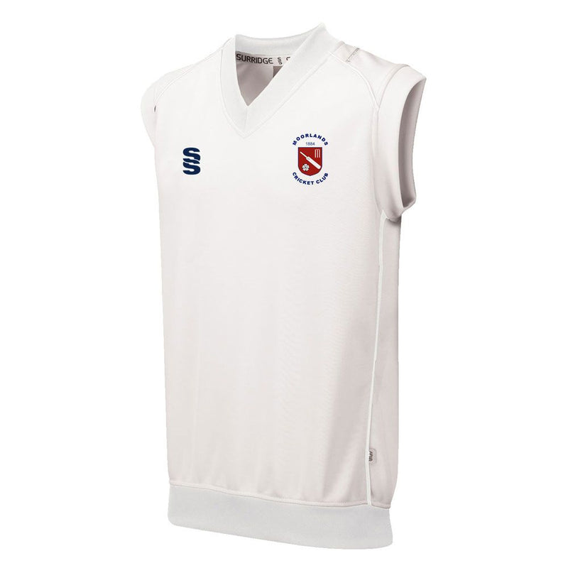 Moorlands CC Short Sleeve Sweater with embroided badge and sponsor prints