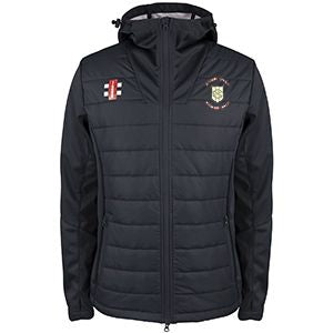 Green Moor CC Pro Performance training Jacket with embroidered badge and initials