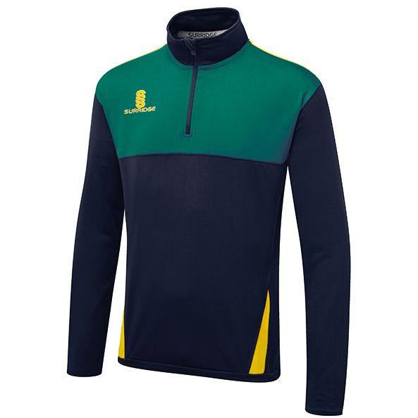 Slaithwaite CC 1/4 Zip with embroidered badge