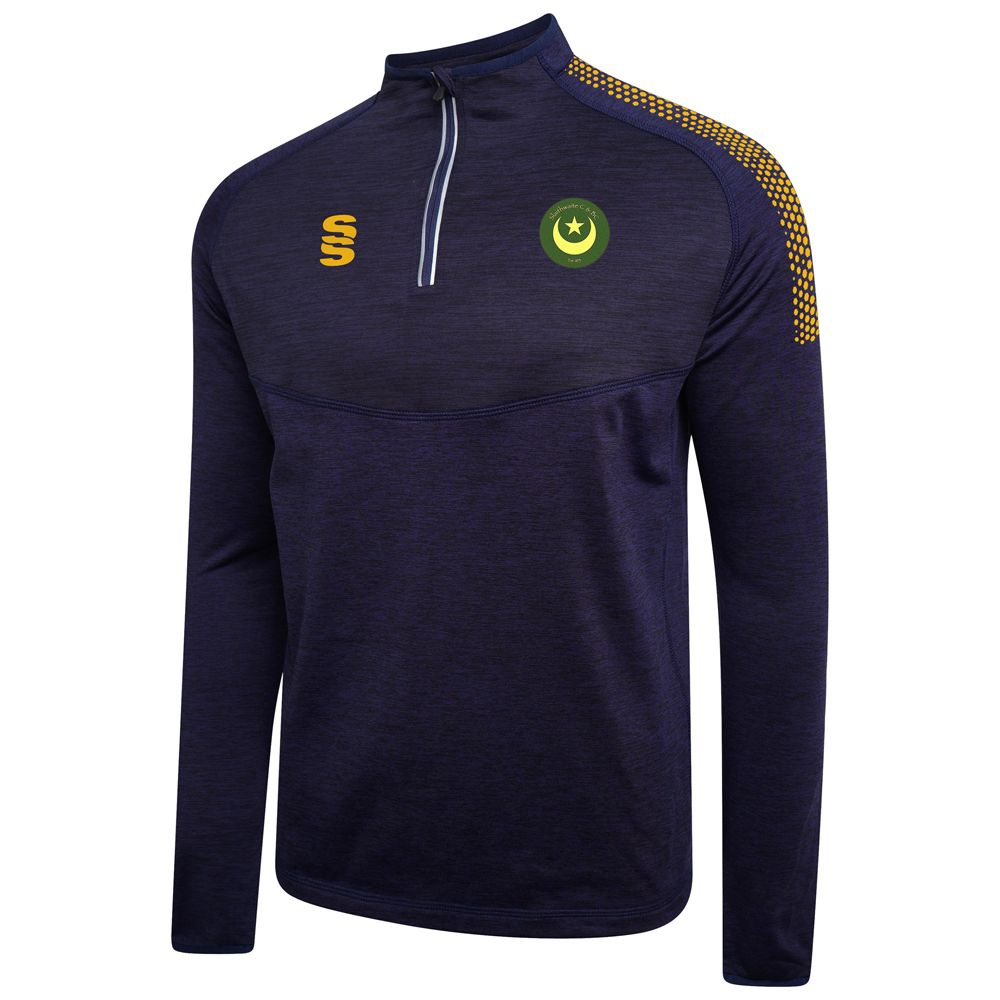 Slaithwaite CC Midlayer  Top Navy/Amber