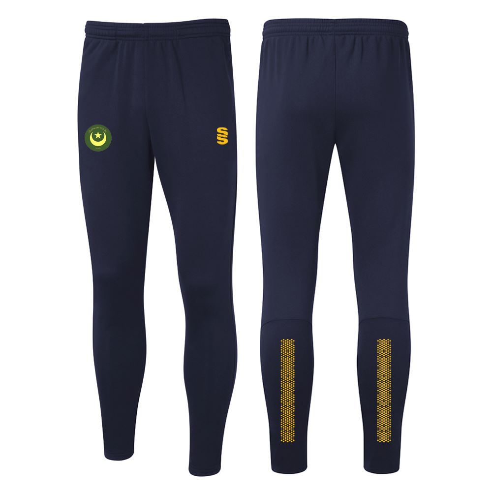 Slaithwaite CC TEK Training Pants Navy/Amber