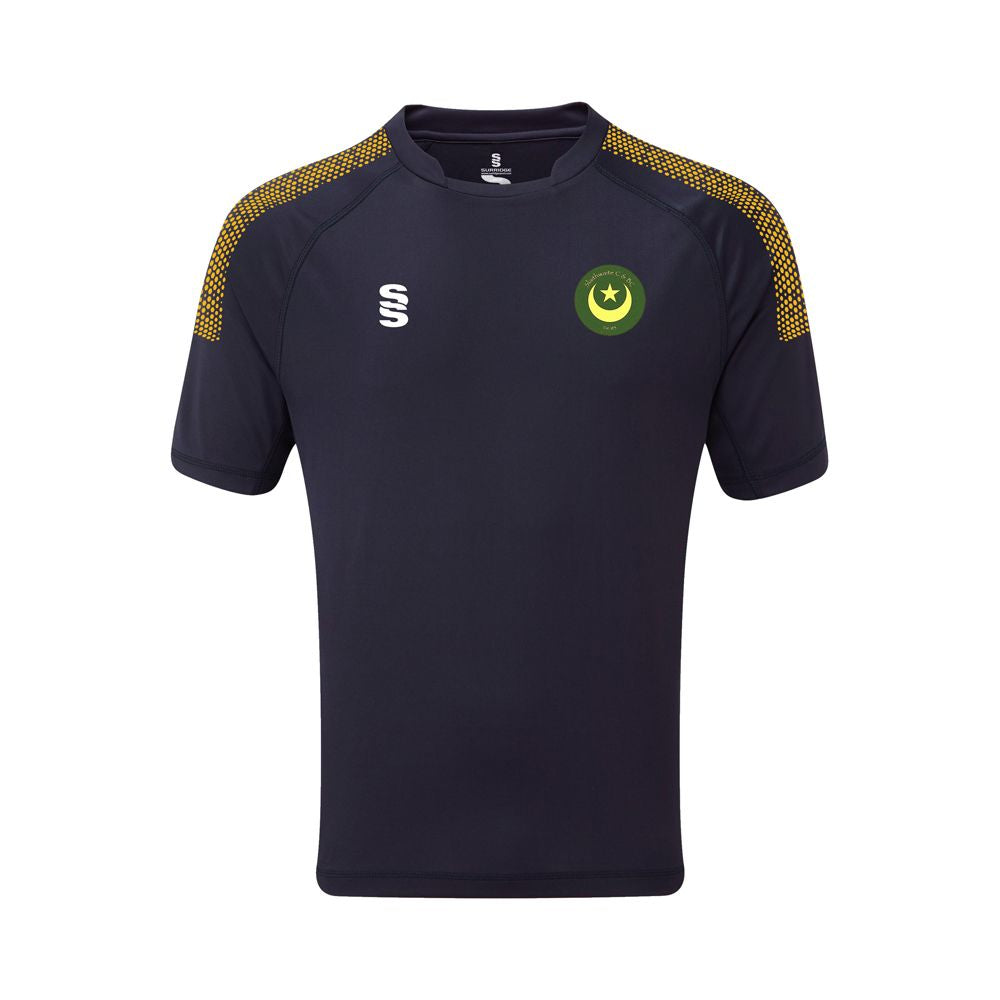 Slaithwaite CC Training Shirt Navy /Amber