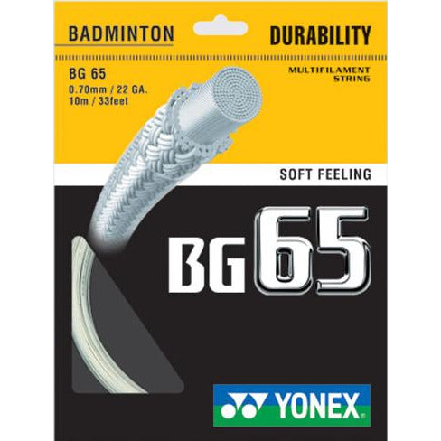 Yonex BG65 (includes fitting)