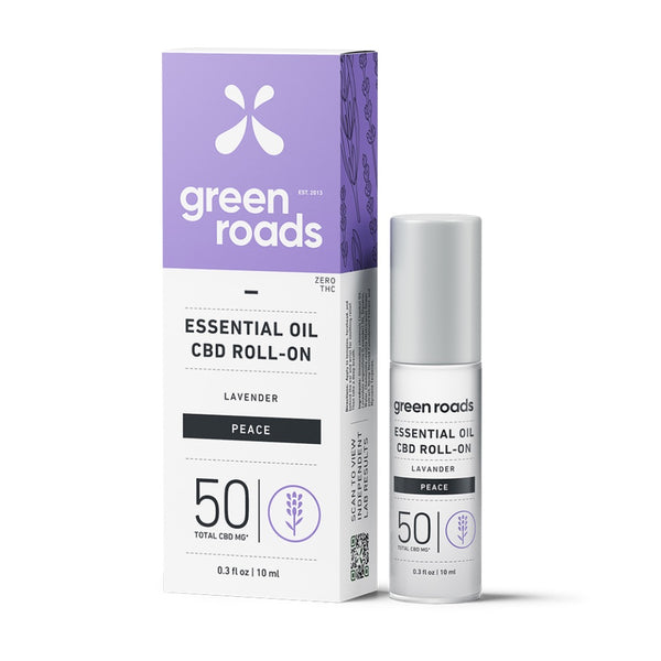 Green Roads Essential Oil Roll-On | 50mg | Peace