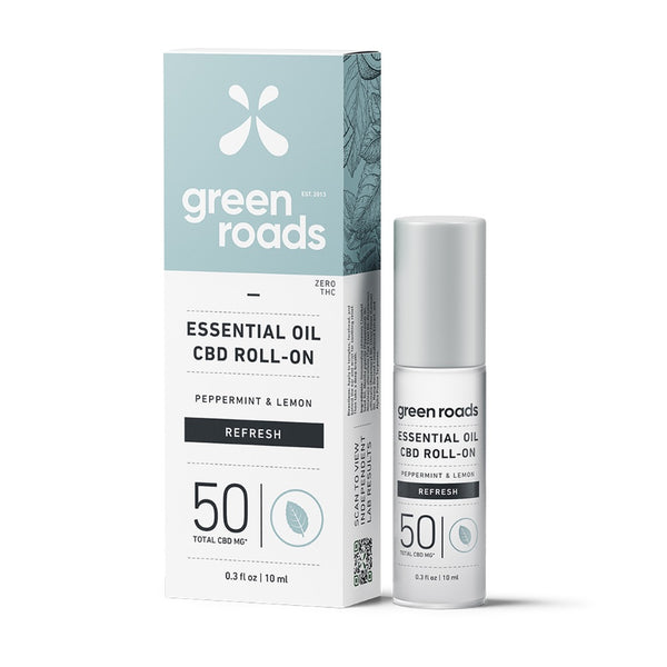 Green Roads Essential Oil Roll-On | 50mg | Refresh