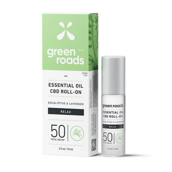 Green Roads Essential Oil Roll-On | 50mg | Relax