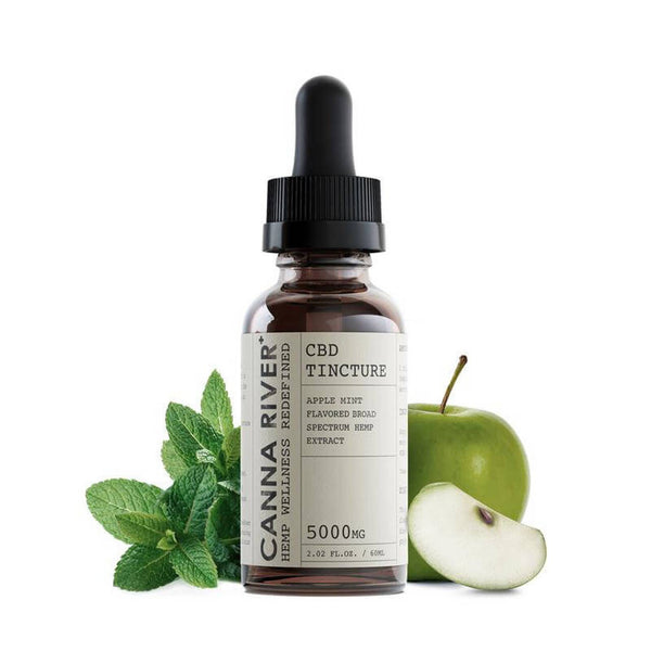 Canna River Broad Spectrum Apple Mint Tincture | 5000mg