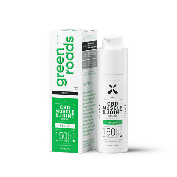 Green Road CBD Muscle and Joint Cream | 150mg - With Box