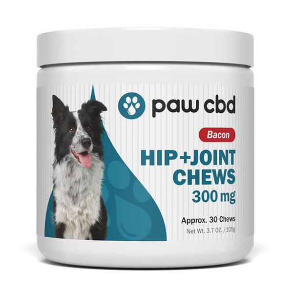 cbdMD Bacon Canine Hip and Joint Chews Pet Treats 300mg