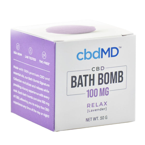 cbdMD Bath Bomb 100mg | Relax - Box