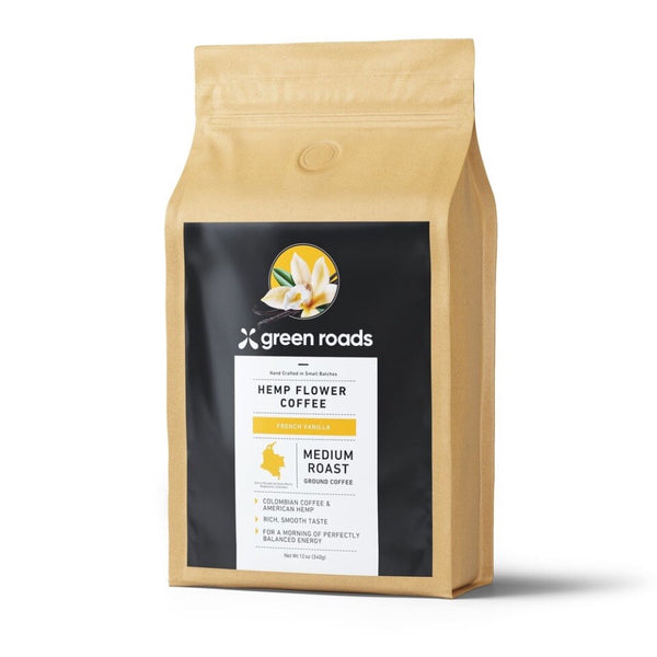 Green Roads French Vanilla Hemp Flower Coffee | 12oz