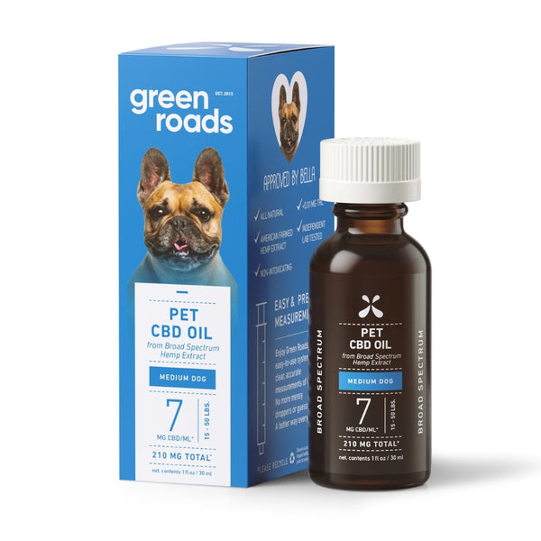 Green Roads Pet CBD Drops Medium Dog