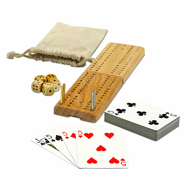 Cribbage & More, 12-in-1, W/Dice & Cards