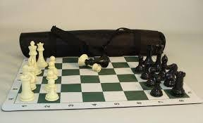 "Chess-20"" Vinyl roll up Tournament Chess Set 