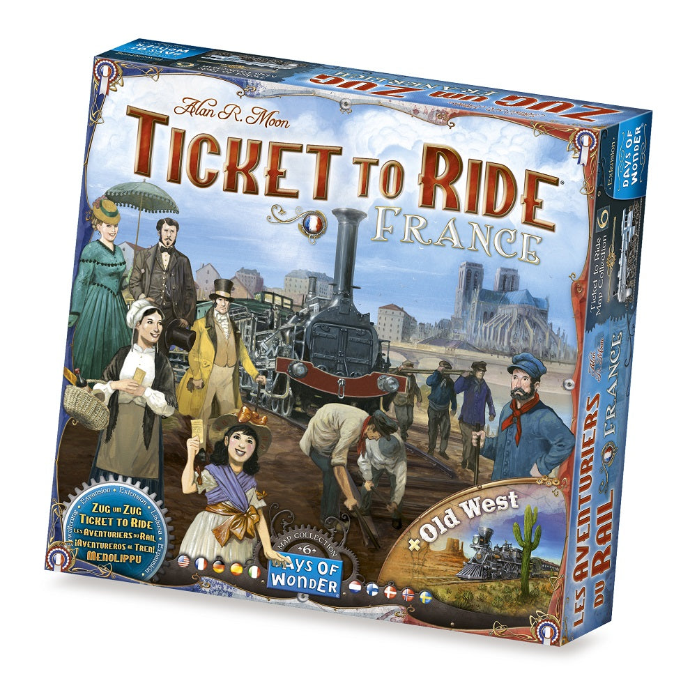 Ticket to Ride -Map #6 -France/ Old West