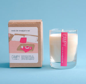 Campy Home Candles: Breakfast in Bed