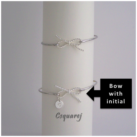 Online Only Offers - Twisted Bow Bangle - Silver