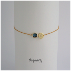 Online Only Offer - Color Solitary Initial Dainty Bracelet