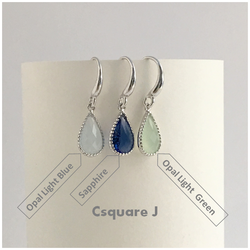 Drop Color Silver Earrings - New design